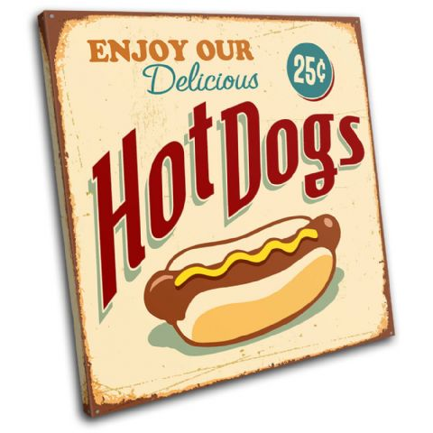 Shabby Chic Hot dogs Vintage - 13-0410(00B)-SG11-LO